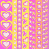 Hearts seamless pattern — Vector de stock