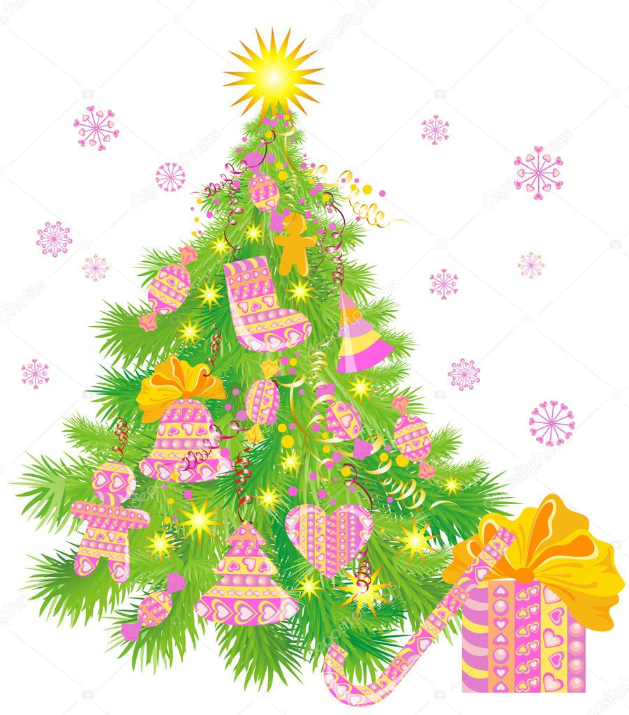 Christmas tree — Vektorgrafik #12459123