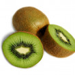 Stock Photo: Juicy kiwi fruit isolated on white background