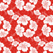 Seamless background with hibiscus flower. Hawaiian patterns — Stock Vector #14912455