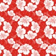 Seamless background with hibiscus flower. Hawaiian patterns - Stock Vector