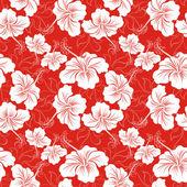 Fond transparent avec la fleur d'hibiscus. modèles hawaïennes — Vecteur