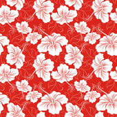 Seamless background with hibiscus flower. Hawaiian patterns — Stock Vector