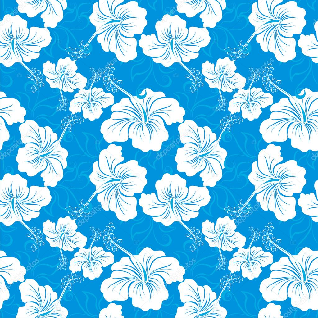 Blue Hawaiian Flower Clipart - Floral delivery
