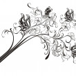 Creative floral pencil. Art concept, vector illustration — Imagens vectoriais em stock