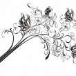 Creative floral pencil. Art concept, vector illustration — Векторная иллюстрация
