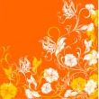 Floral background, vector - Stock Vector