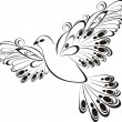 Flying dove. Symbol of peace and unity - Vettoriali Stock