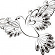 Flying dove. Symbol of peace and unity - Image vectorielle