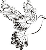 Flying dove. Symbol of peace and unity — Wektor stockowy