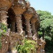 Columns in Park Guell, Barcelona, Spain - Stock Photo