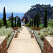 Botanic garden in Blanes, Catalonia, Spain — Stock Photo