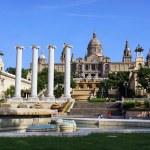 BARCELONA, SPAIN - MAY 28: National Museum in Placa De Espanya o — Stock Photo