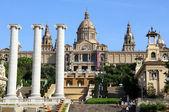 National Museum in Placa De Espanya, Barcelona. Spain — Foto de Stock