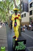 Sokak sanatçı ramblas barcelona, i̇spanya — Stok fotoğraf