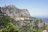 Montserrat Monastery high up in the mountains near Barcelona — Stock Photo