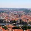 Panoramatic view in Prague - Foto Stock