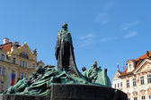 Monument of Jan Hus in Staromestske square in Prague, Czech Republic — Stock Photo