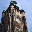 Tower of St. Vitus Cathedral in Prague — Stock Photo