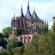 Church of St. Barbara in Kutna Hora, Czech Republic - Stock Photo
