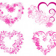 Royalty-Free Stock Vector Image: Set Valentines heart. Vector