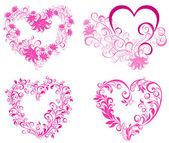 Conjunto a San Valentín corazón. Vector — Vector de stock