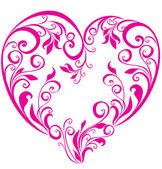 情人节的心。矢量花的心形状 — 图库矢量图片