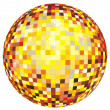 Shiny disco ball design — Stock Vector