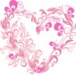 Valentines heart. Vector floral heart shape - Stock Vector