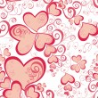 Valentines Day seamless pattern with hearts for your design — Stockvectorbeeld