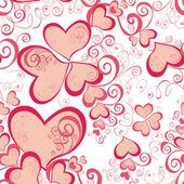 Día de san valentín de patrones sin fisuras con corazones para su diseño — Vector de stock