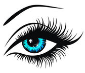 Vector illustration beautiful female blue eye — Stock Vector