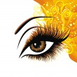 Beautiful female eye — Stock Vector