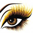 Beautiful female brown eye — Vector de stock #18921751