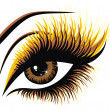 Cтоковый вектор: Beautiful female brown eye