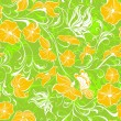Floral seamless pattern. Vector summer seamless background — Stock Vector
