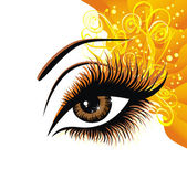 Beautiful female eye — Stock Vector