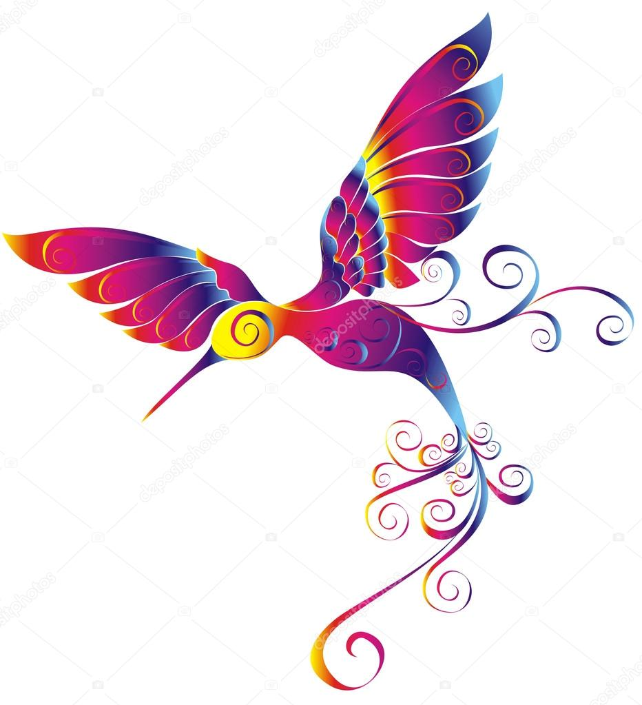 Hummingbird isolated on a white background — Stock Vector #18921571