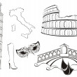 Famous landmarks of Italy - Stock Vector