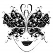 Carnival mask. Butterfly masks for a masquerade. — Stock Vector