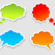 Vector colorful speech bubbles — Stock Vector