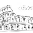 Colosseum in Rome, Italy. Vector sketch — Stock Vector