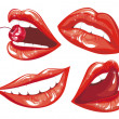 Set Red lips — Stock Vector #19552813