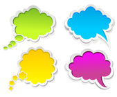 Vector colorful speech bubbles — Cтоковый вектор