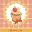 Vintage card with cupcake — Stock Vector #19603519