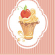 Vintage card with cupcake — Stock Vector #19603451