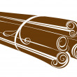 Royalty-Free Stock Vector Image: Cinnamon sticks on white