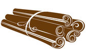 Cinnamon sticks on white — Stock Vector