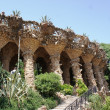 Columns in Park Guell, Barcelona, Spain — Stockfoto