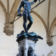 Perseus with the head of Medusa Gorgon in Loggia Lanzi, Piazza della Signoria, Florence, Italy — Foto Stock